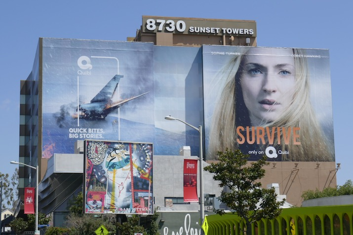 Sophie Turner Survive Quibi series premiere billboard