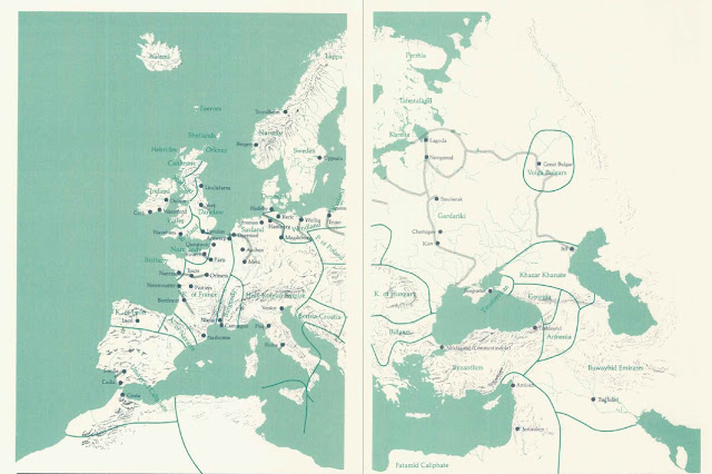 Vikings map of Europe