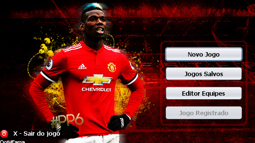 Skin Paul Pogba - Manchester United para Brasfoot 2018