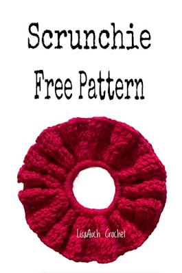 free crochet pattern hair scrunchie