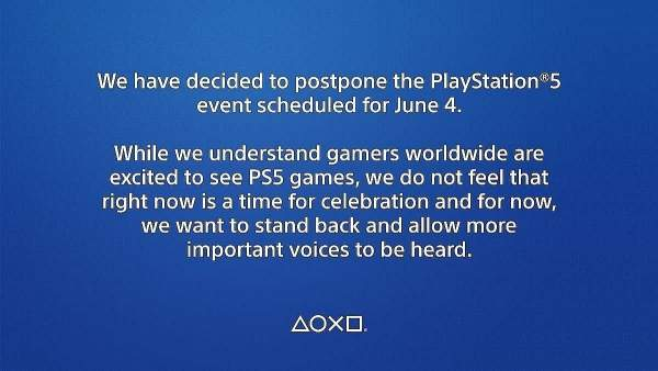 We decided to postpone the PlayStation 5 event