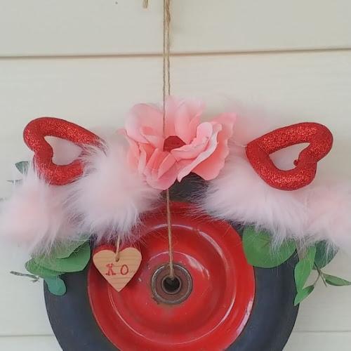 Valentine Junk Wheel Wreath