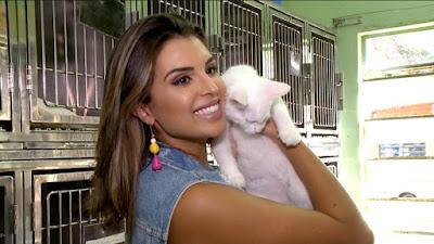 Mônica no posto de saúde de animais (Divulgação SBT)