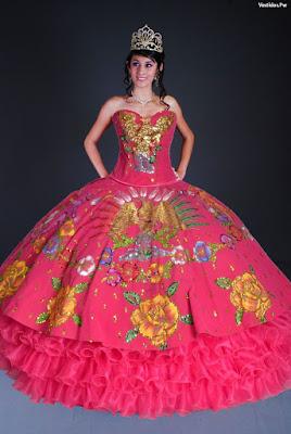 Vestidos largos para fiesta mexicana