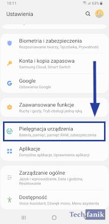 Ustawienia w One UI