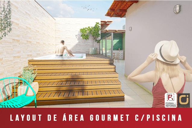 Layout de Área Gourmet com Piscina - RJ