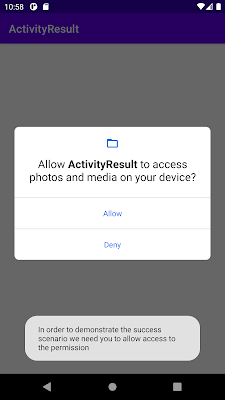 ask user for runtime permission in android show toast if denied more than once