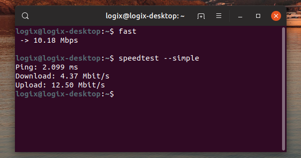 2 Tools To Test Internet Speed From The Command Line - Linux