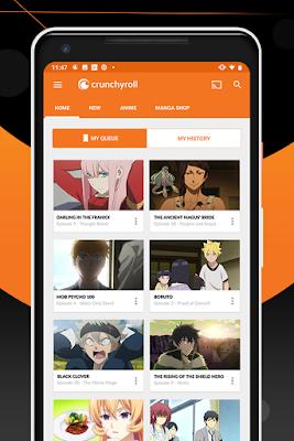 تطبيق Crunchyroll للأندرويد, تطبيق Crunchyroll مدفوع للأندرويد, تطبيق لمشاهدة الانمي مترجم, افضل تطبيق لتحميل الانمي مترجم