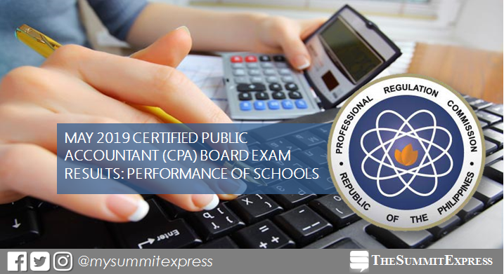 RESULTS: May 2019 CPA board exam performance of schools