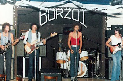 Borzoi on stage at Good Time Charlie's in Lakehurst, New Jersey 1977