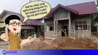 Bangunan Lab SD di Lampung Selatan diduga Ngawur