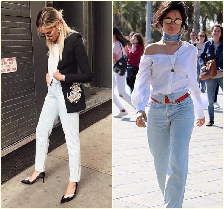 Jeans com o cós dobrado