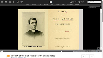 Photo of author, title page of Clan Macrae history book