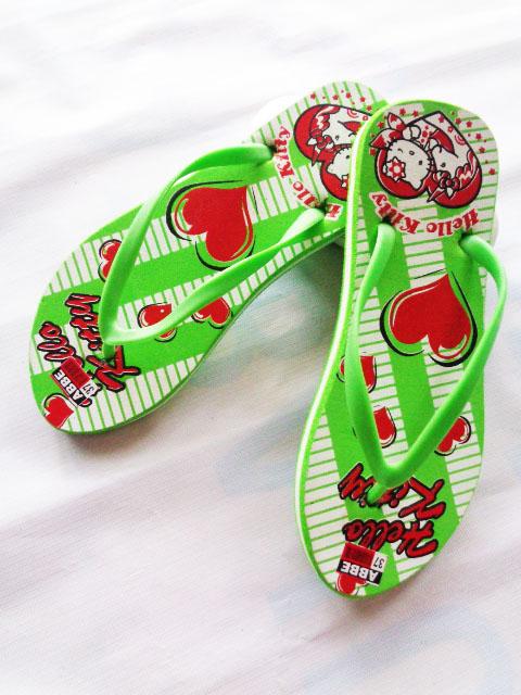 Sandal SPON Jepit ABBE LOVE hijau