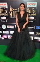 Esha Gupta in a Deep Neck Sleeveless Dark Green Gown at IIFA Utsavam Awards 2017     40.JPG