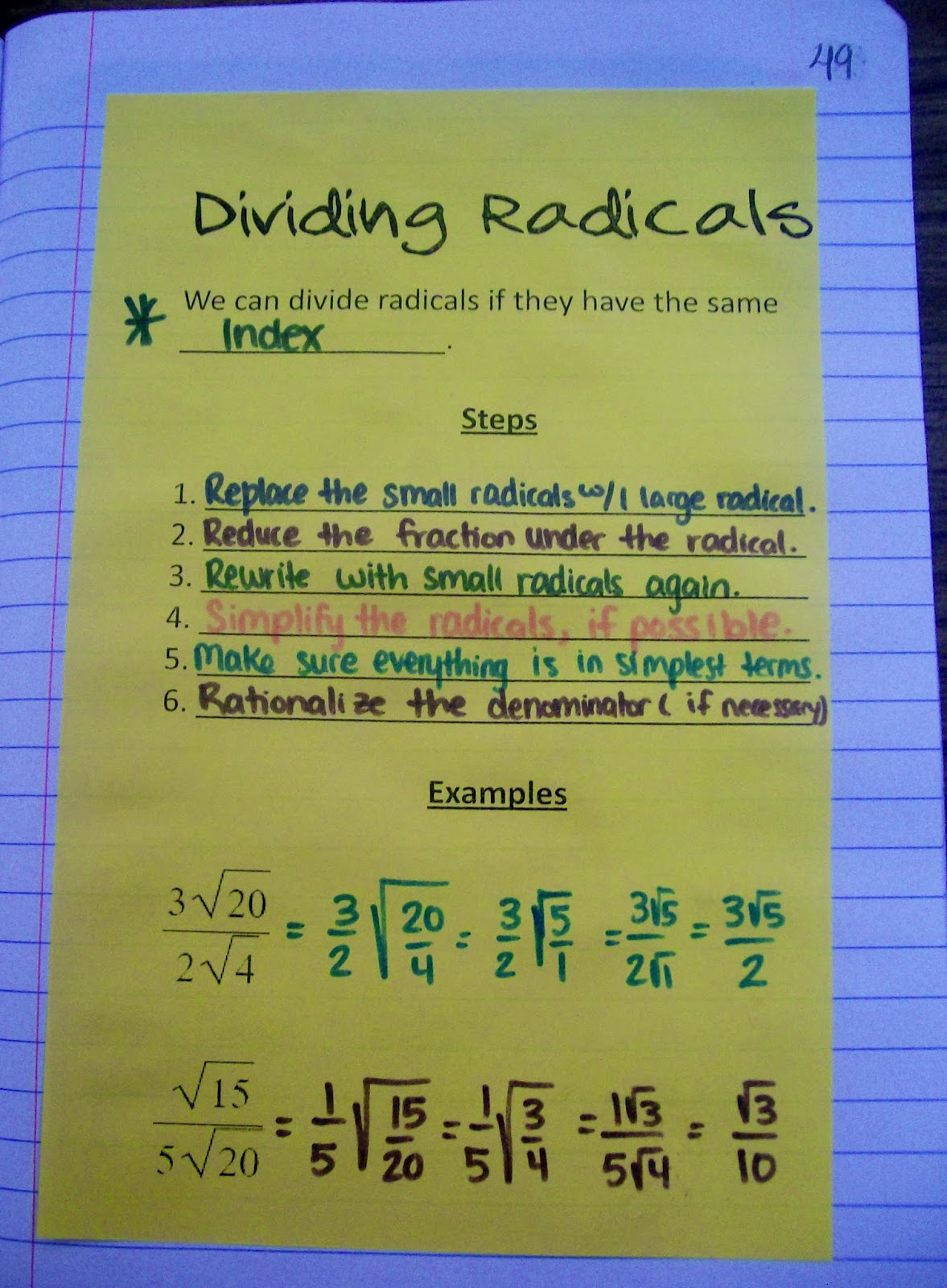 Math Love Ending Our Unit On Radicals