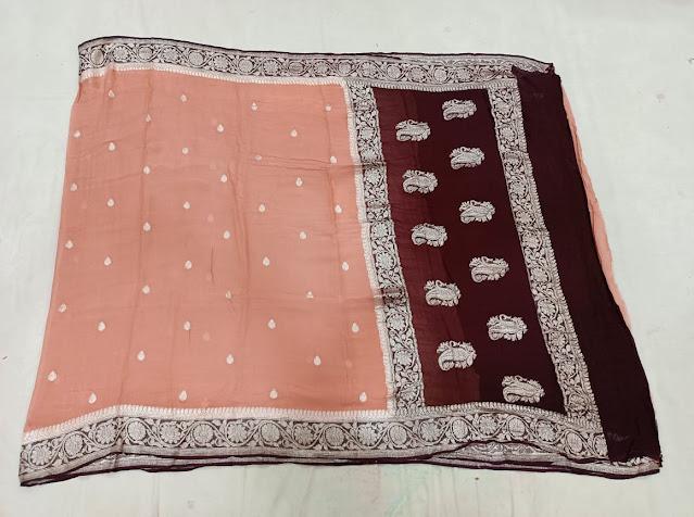 Banarasi chiffon handloom saree