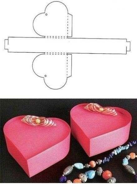 Kotak kado cantik bentuk hati / love