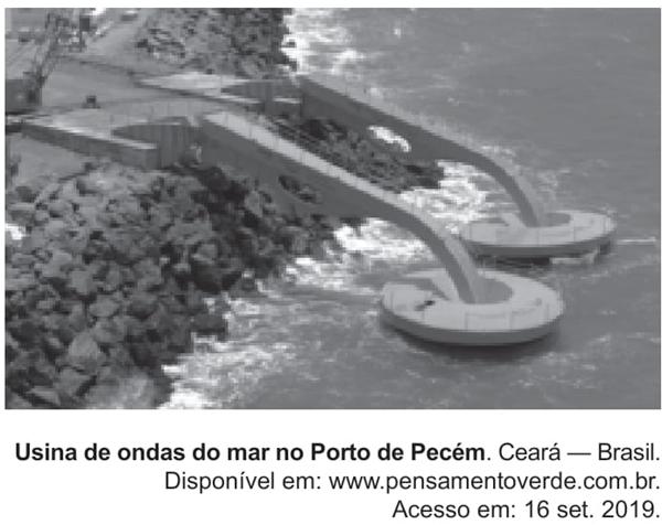 Usina de ondas do mar no Porto de Pecém