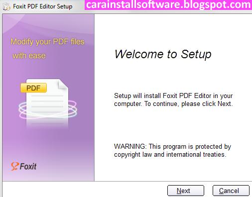 Cara Instal Foxit PDF Editor