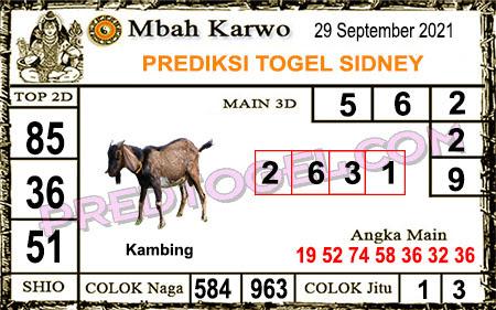 Prediksi Jitu Mbah Karwo Sdy Rabu 29 September 2021