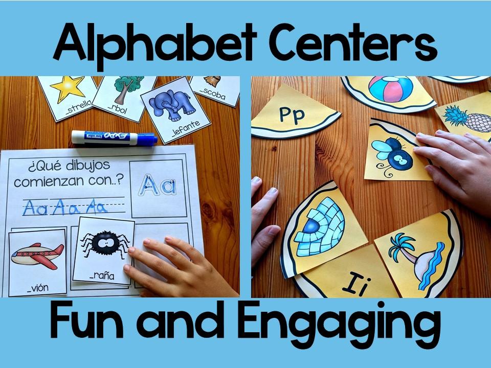 Spanish Alphabet Activities I juegos de letras para niños