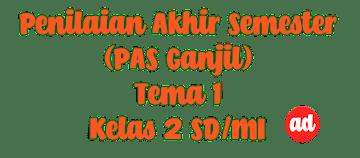 PENILAIAN AKHIR SEMESTER (PAS) KELAS 2 SD/MI TEMA 1 (HIDUP RUKUN)