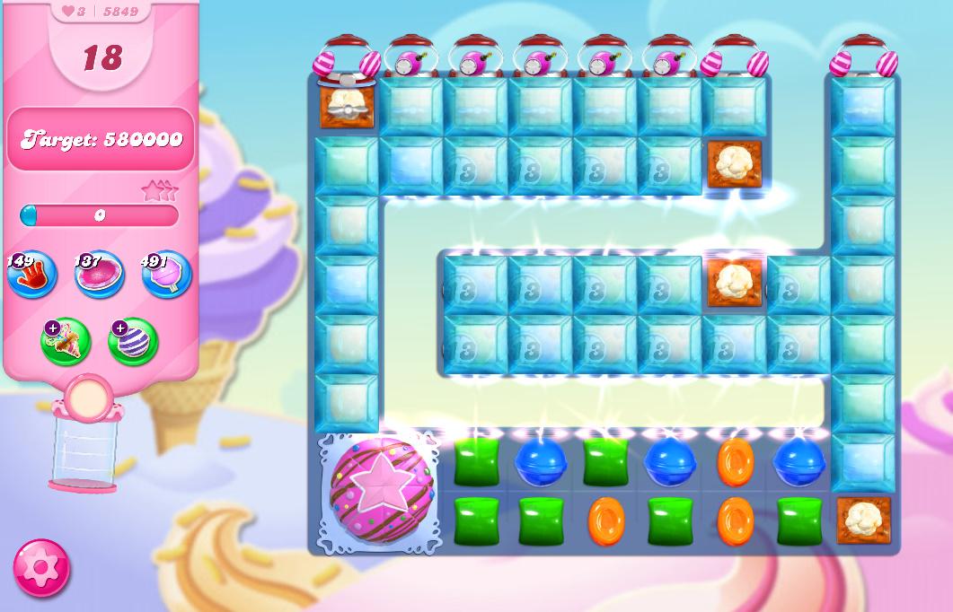 Candy Crush Saga level 5849