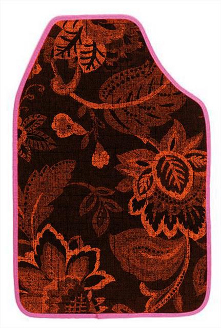 orange-florals-custom-car-floor-mats