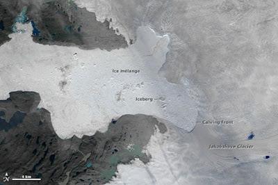 ruptura de glaciar en groenlandia