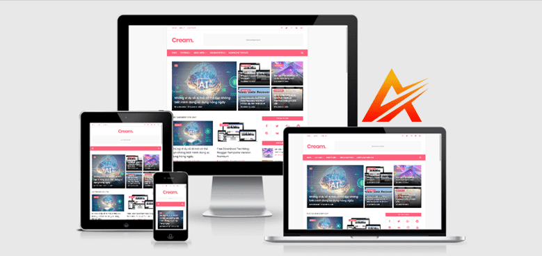 Chia sẻ CREAM blogger template bản mua Premium