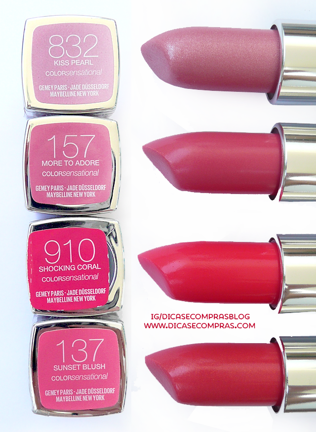 resenha e swatches maybelline color sensational