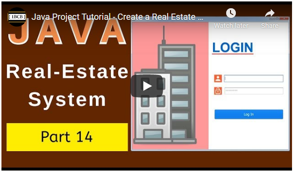 Java Real Estate Management System Source Code