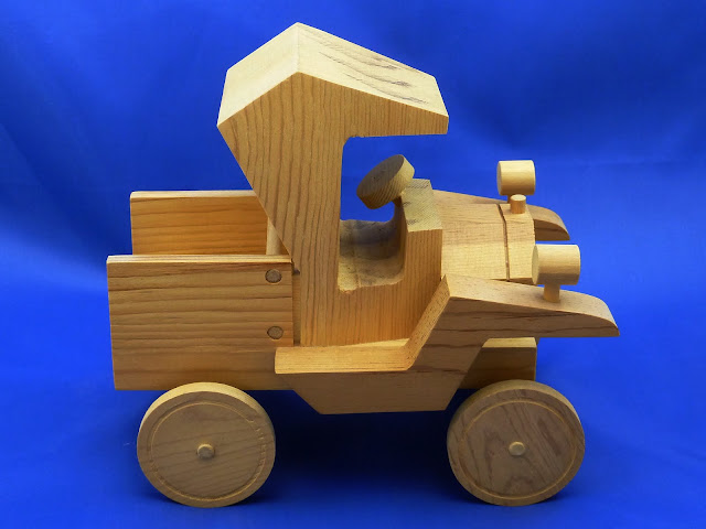 Right Side - Handmade Wooden Toy Truck - Norm Marshall Model T Pickup Truck - Version 2