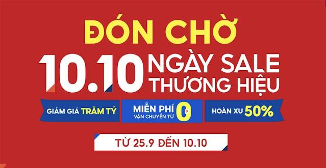 shopee 10.10 ngày sale thương hiệu