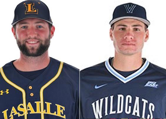 Colin Kennedy of La Salle and Lucas Latrenta of Villanova