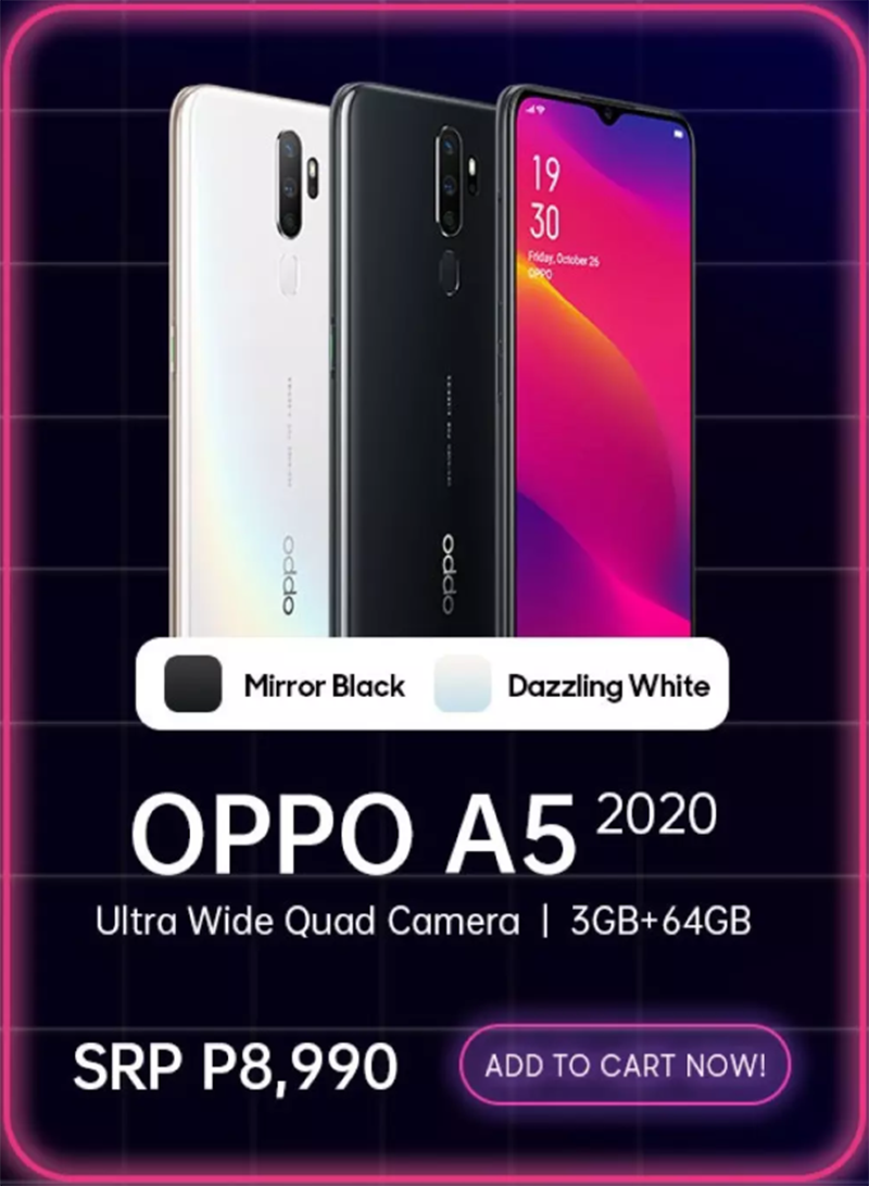 Online-only OPPO A5 2020 announced, SD665 priced at PHP 8,990!