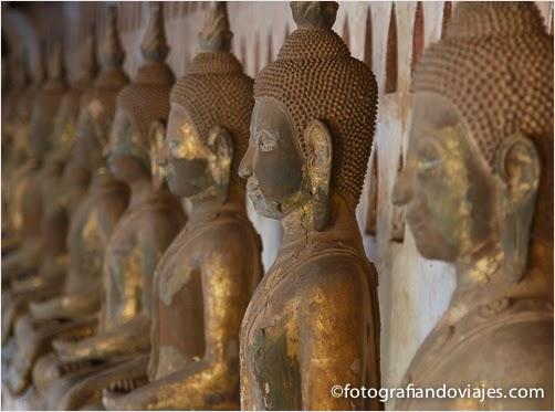 Budas en Vientian Laos