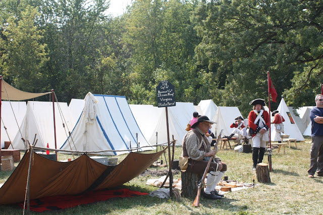 Walking through the Revolutionary War Encampment