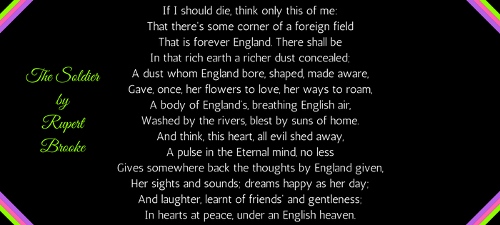 The Soldier by Rupert Brooke (text)