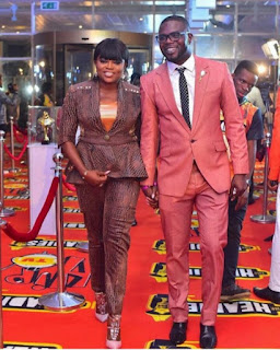 Funke akindele and jjc attend the headies together