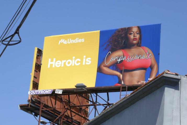 MeUndies Heroic Compassionate billboard