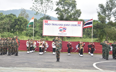 Closing Ceremony Indo-Thailand Joint Military Exercise Maitree - 2019