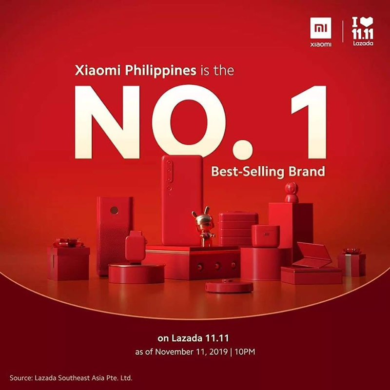 No. 1 best-selling brand on Lazada 11.11 as of November 11, 2019 | 10PM