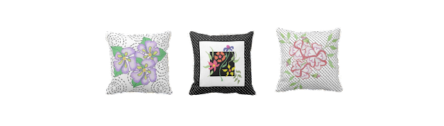 Zazzle Flower Pillows
