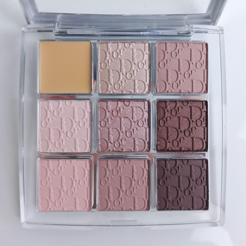 Dior Backstage Eyeshadow Palette Cool Neutrals review swatches
