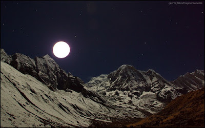 Full moon Himalaya, photo by Kirill Spirin