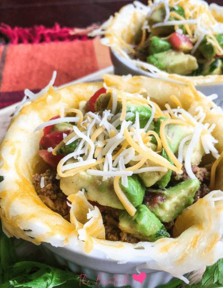 Keto Taco Bowl with Avocado Salsa #foods #healthydiet