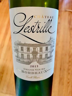 Château Lestrille Bordeaux bottle shot.